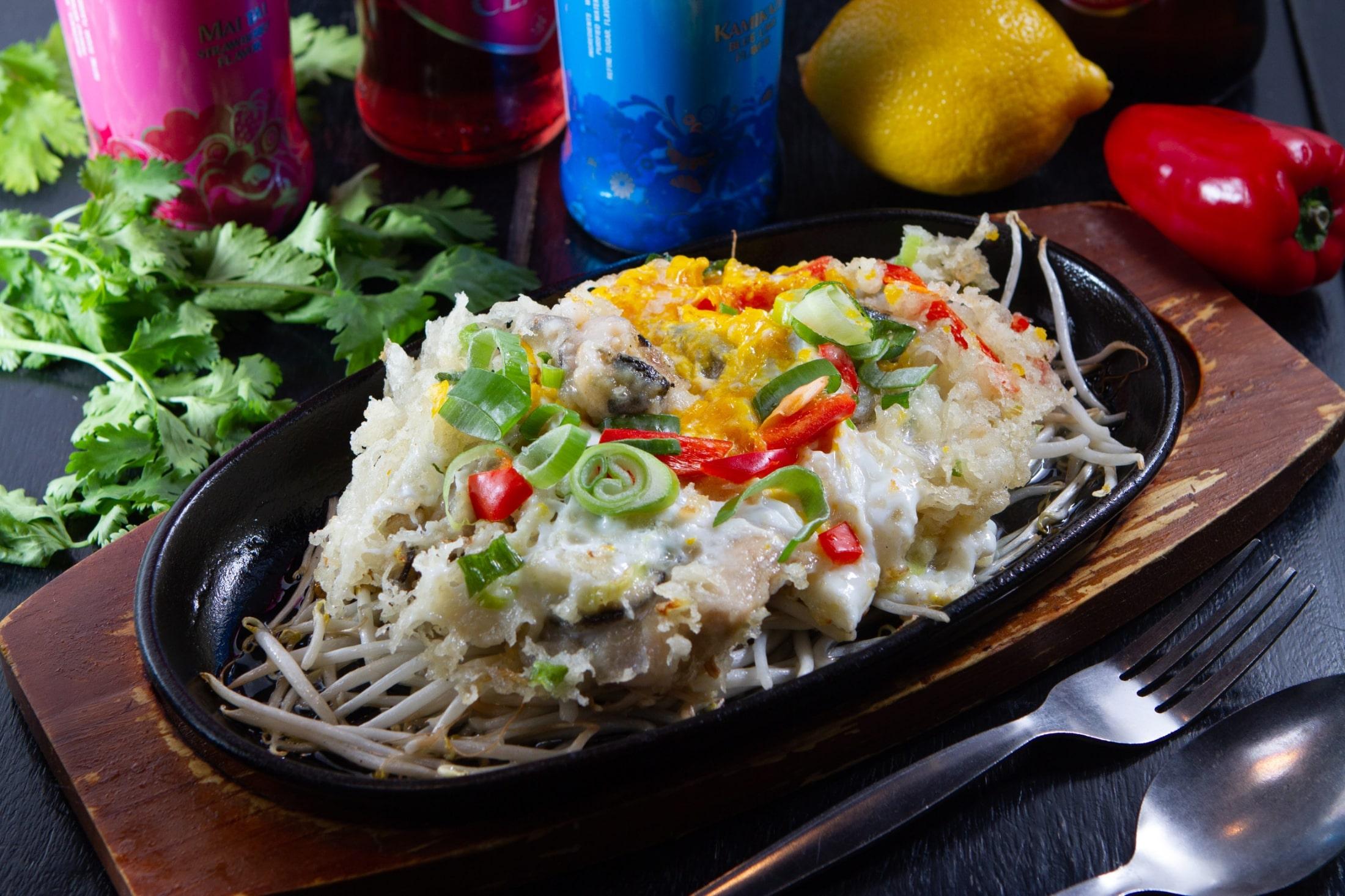 タイの牡蠣入りお好み焼き風/ホイトート