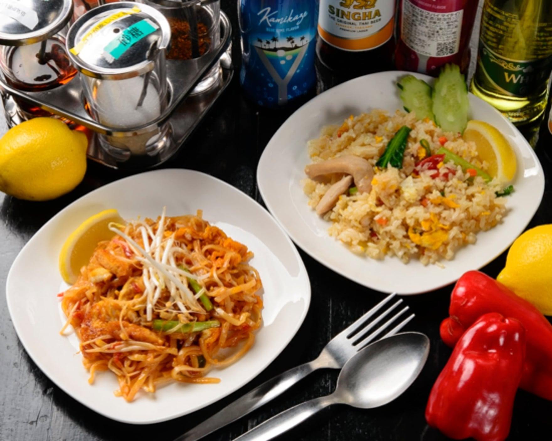 (モバイル限定)タイ料理2種弁当● パッタイ と タイの焼き飯