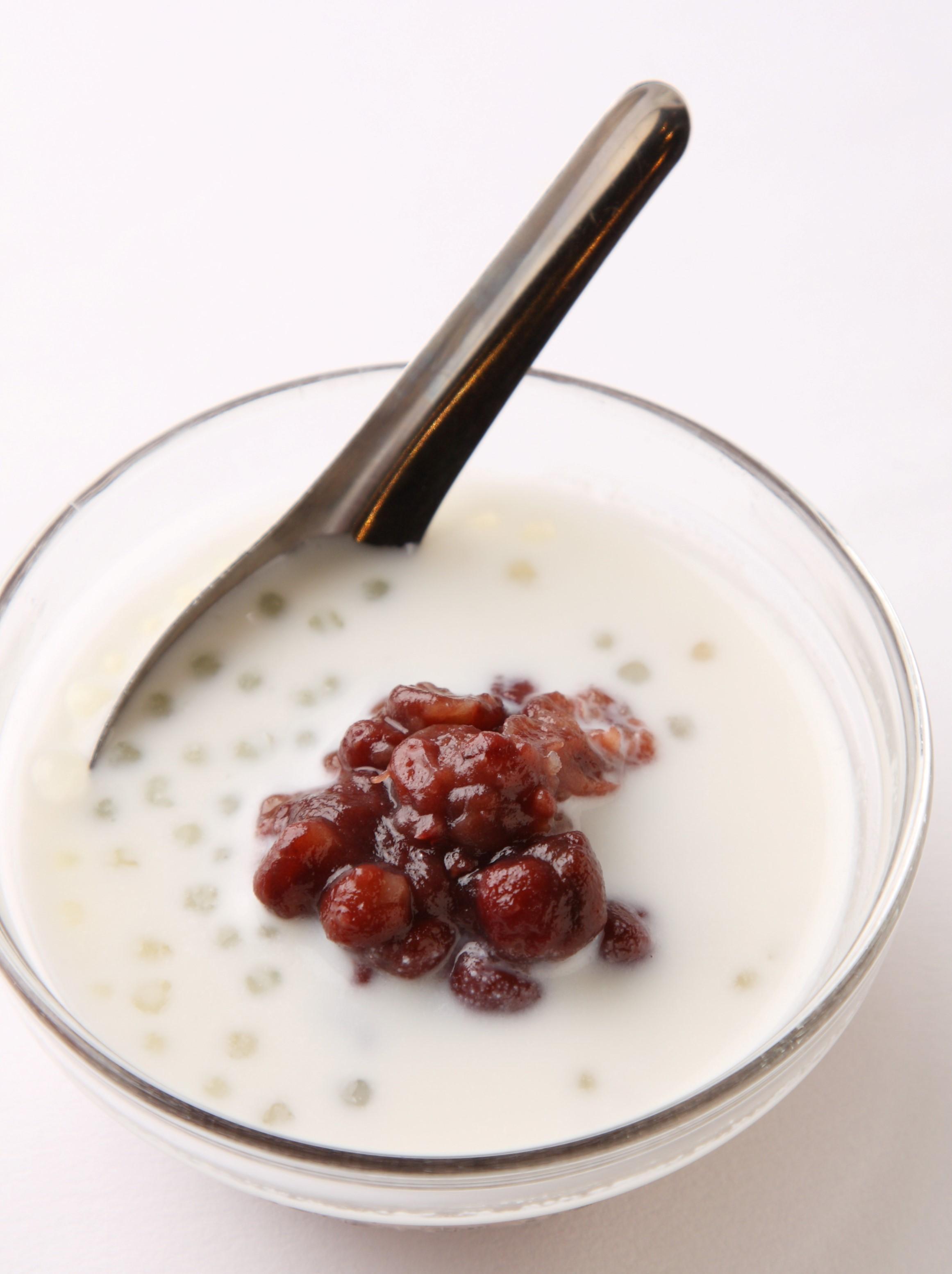 タピオカ入り小豆ココナッツミルク